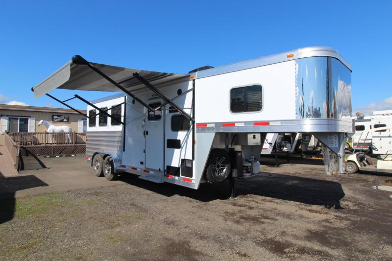 2018 Exiss Escape 7306 Living Quarters 3 Horse Trailer - Hoof Grip Flooring - Lots of Interior Upgrades