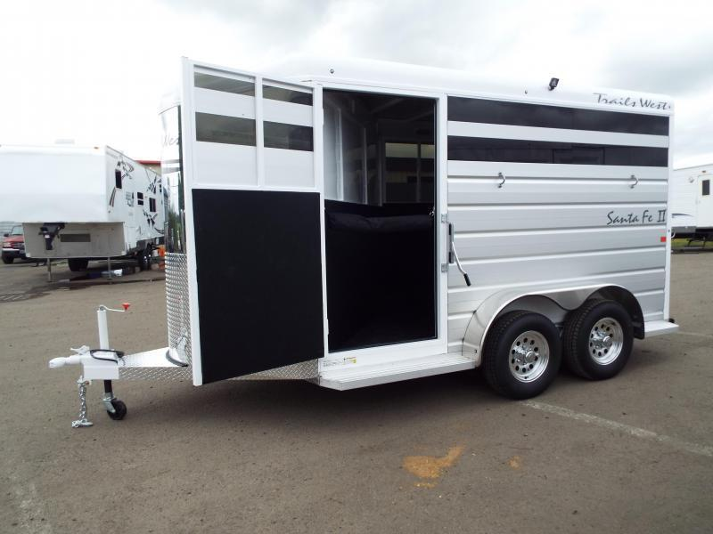 2017 Trails West Santa Fe - Steel Frame Aluminum Skin - 2 Horse Slant Trailer - Removable Plexi Glass Inserts - Fully Enclosed Tack Room - Swing Out Saddle Rack PRICE REDUCED