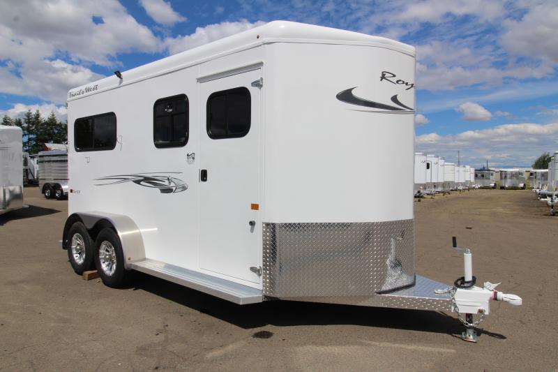2020 Trails West Royale SXS 2 Horse Trailer- convenience package - Rubber floor mats in tack area - Wheel upgrade