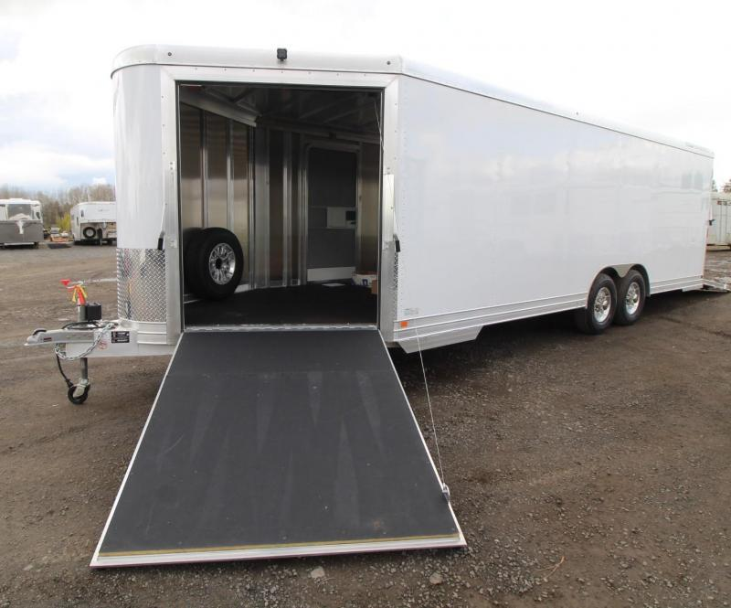 2019 Featherlite 4926 V Nose w/ Front Ramp & Rear Ramp Car - Quad or Snowmobile Trailer w/ Nudo Flooring