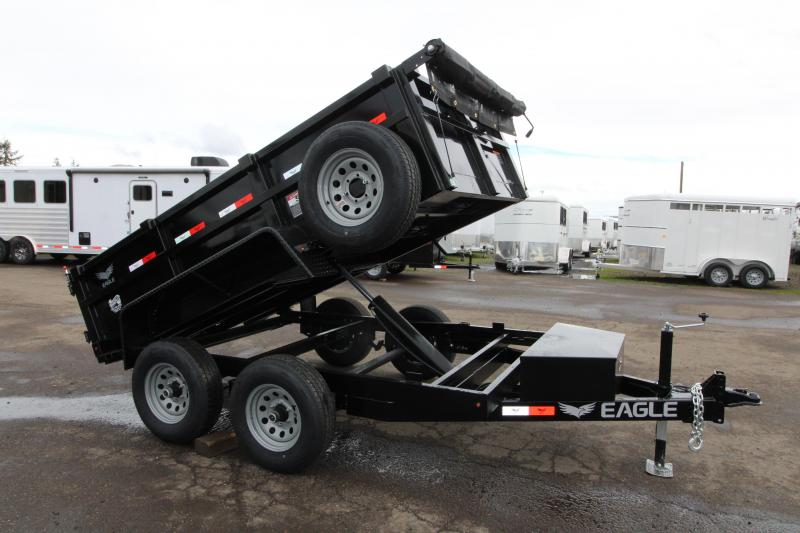 2019 Eagle 6x10 Tandem Axle Dump Trailer - Brakes on both axles