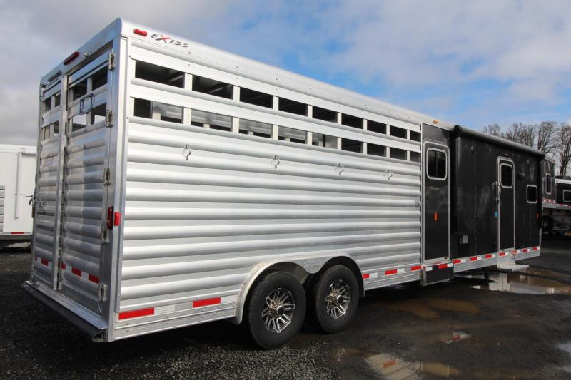 2019 Exiss STC 8032 Stock Combo 10'sw Living Quarters Trailer * Mid Tack W/ Ramp