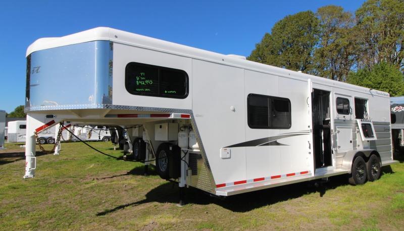 2019 Trails West Sierra 8x13 Living Quarters 3 Horse Trailer