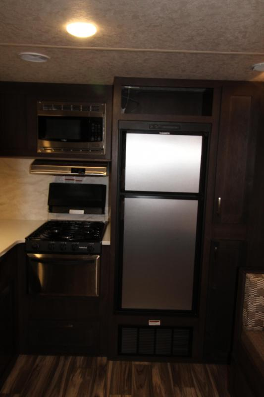 2018 Forest River EVO 2360 - Slide Out - Large Rear Kitchen - Solar Power - Arctic Package - Silver Birch Interior Decor