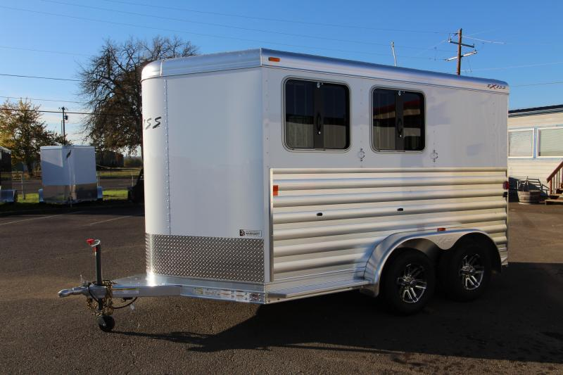 2018 Exiss Express XT 2 Horse Trailer - All Aluminum - UPGRADED EASY CARE FLOORING - Upgraded Jail Bar Divider - PRICE REDUCED BY $300