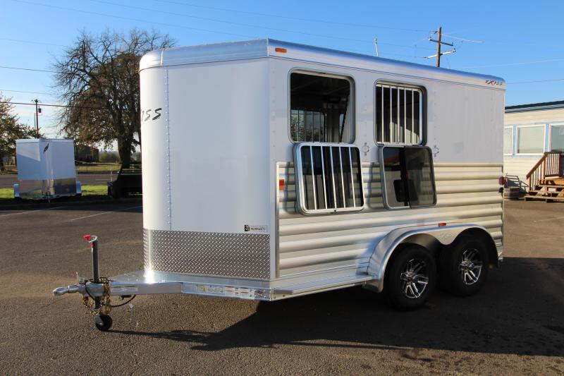 2018 Exiss Express XT 2 Horse Trailer - All Aluminum - UPGRADED EASY CARE FLOORING - Upgraded Jail Bar Divider - PRICE REDUCED BY $800 in New Pine Creek, OR