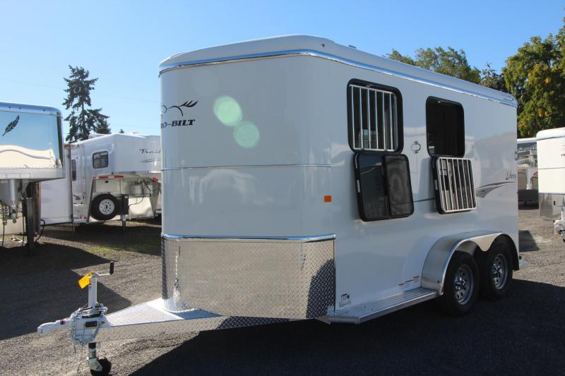 "2019 Thuro-Bilt Liberty 2 Horse Trailer 7'6"" Tall Spare Double Rear Doors Extra Divider Catch Drop Windows"