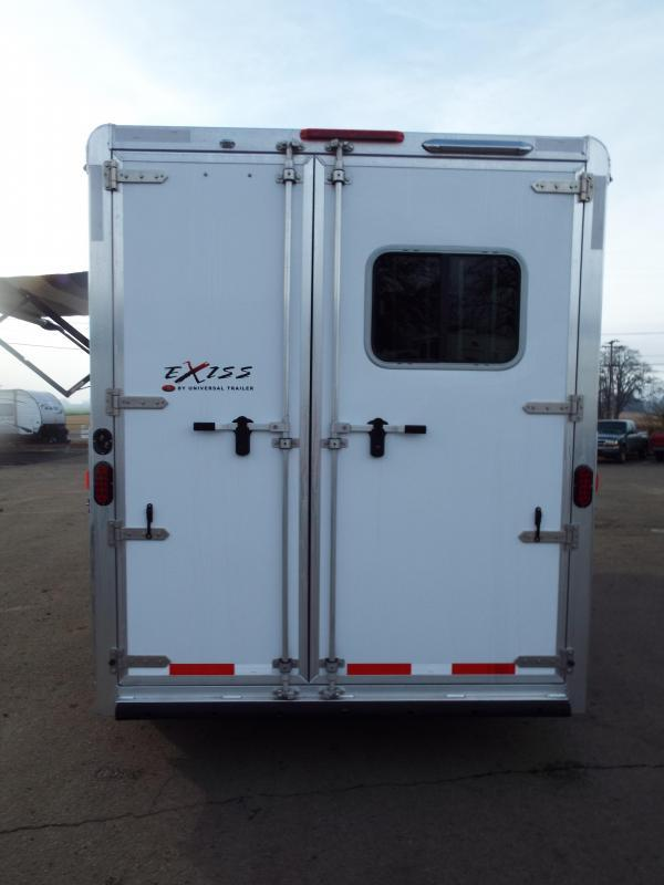 """2017 Exiss 7204 - 4'6"""" SW LQ 2 Horse All Aluminum Trailer - Power Awning - Stud Wall $5000 LESS THAN A 2019!"""
