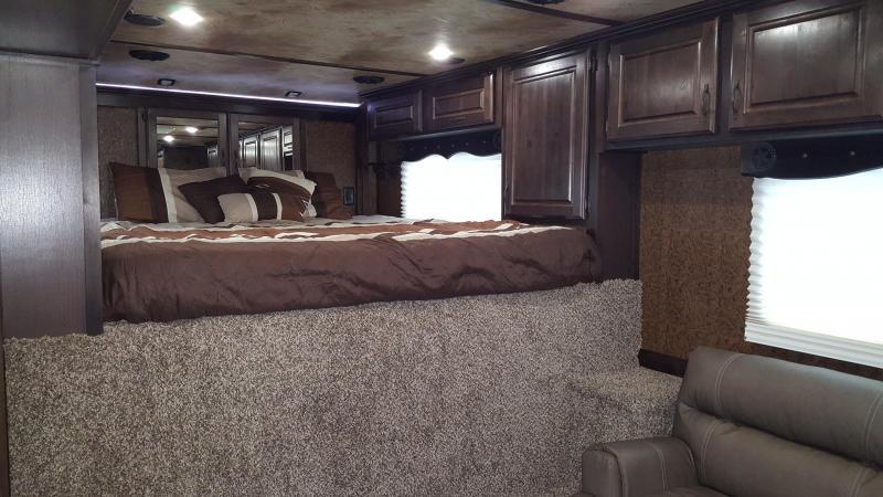 2018 Trails West Sierra 15x19 Premium Interior Upgrade LQ w/ slide out - Couch & Dinette - 4 Horse Trailer
