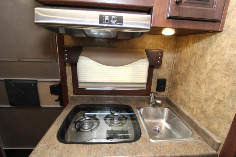 2019 Exiss 7210 w/ Slide Out 2 Horse Trailer with 10 ' Living Quarters - Easy Care Flooring - Lined and Insulated Ceiling - Air Flow Dividers