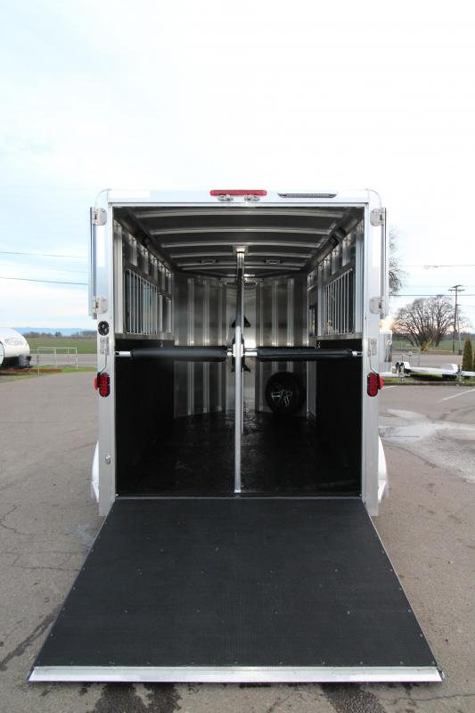 2019 Exiss Express ST 2 Horse Straight Load Trailer - Rear Ramp - All Aluminum