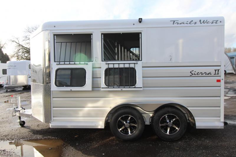 2018 Trails West Sierra II - 2 Horse Trailer - Extruded Aluminum Sides - Lined and Insulated  in Astoria, OR