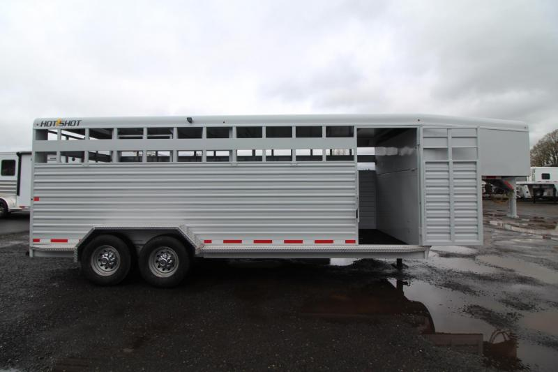 2018 Trails West Hot Shot 20ft Livestock Trailer Upgraded w/ Sort Door