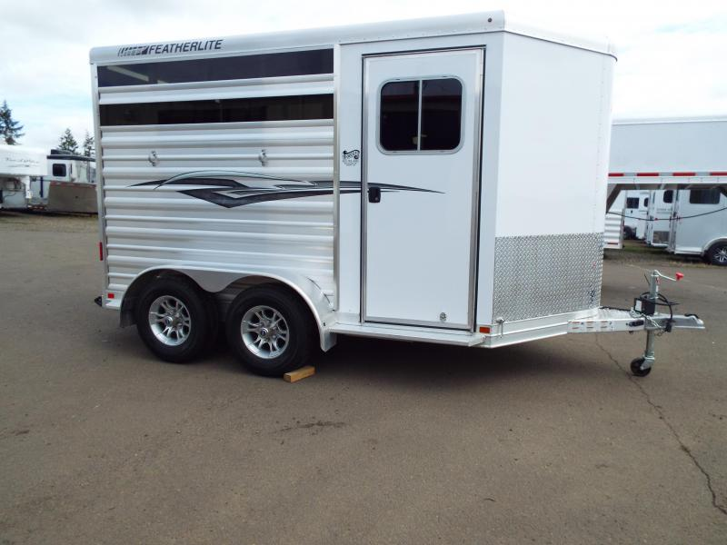 2018 Featherlite 9651 - 2 Horse Trailer - All Aluminum - Head and Tail Side Air Gaps with Plexi Glass