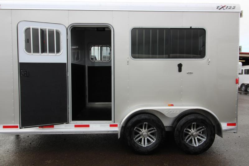 "2018 Exiss Trailers 7200 Straight Load Gooseneck All Aluminum 2 Horse Trailer - 7'8"" Tall - Dual Escape Doors - Rear Ramp"