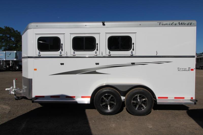 "2017 Trails West Sierra 7'6"" Tall - Aluminum Skin - Conv. Pkg 3 Horse Trailer PRICE REDUCED $300"