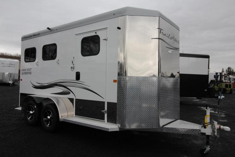 "2019 Trails West Sierra Select 7' 6"" Tall 2 Horse Trailer - Lined & Insulated including tack room"
