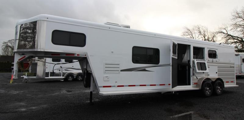 2019 Trails West Sierra 10x15 Living Quarters 3 Horse Trailer