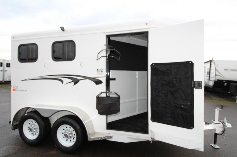 2019 Trails West Adventure MX 2 Horse Trailer - NEW Larger Stall Sizes - Swing Out Saddle Rack