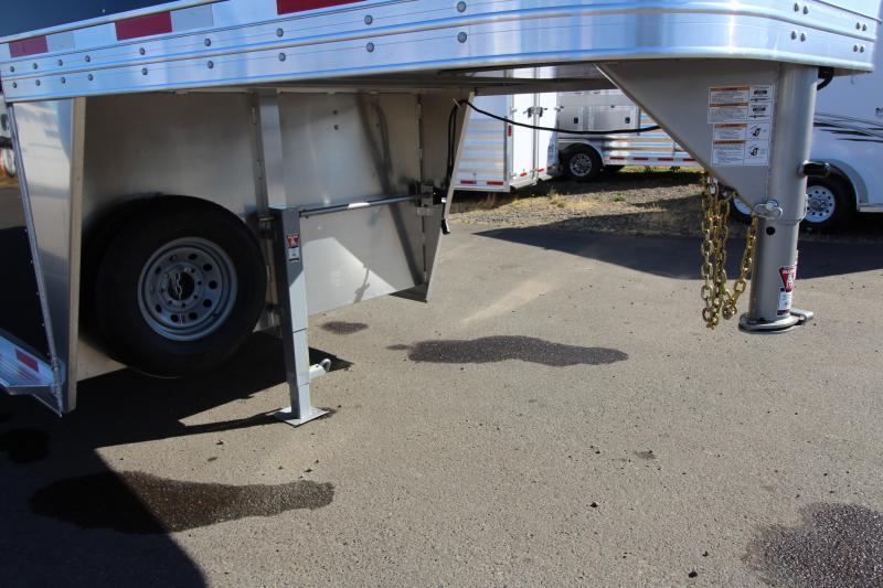 "2019 Exiss 7024 Stock Combo - 4 ft Enclosed Tack Room - All Aluminum Livestock Trailer - 7'2"" Tall -"
