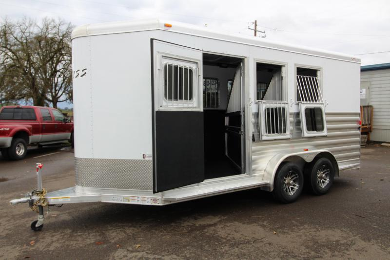 "2018 Exiss 730 - 3 Horse All Aluminum 7' 6"" Tall - UPGRADED EASY CARE FLOORING 3 Horse Trailer - Swing Out Saddle Rack - Escape Door - Air Flow Dividers - Stud Wall"