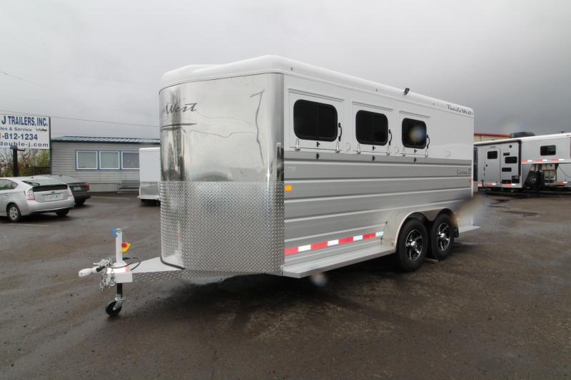 "2018 Trails West Sierra 3 Horse - Lined & insulated horse area  - Aluminum Skin Steel Frame - 7'6"" Tall - First Stall Escape Door"