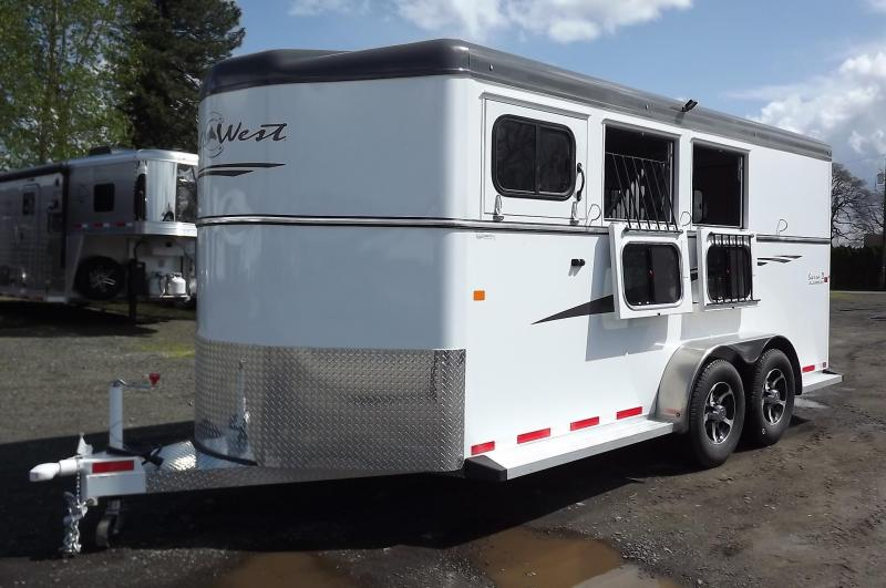 2017 Trails West Sierra - Aluminum skin steel frame - Lined and Insulated Roof - 3 Horse Trailer REDUCED $700