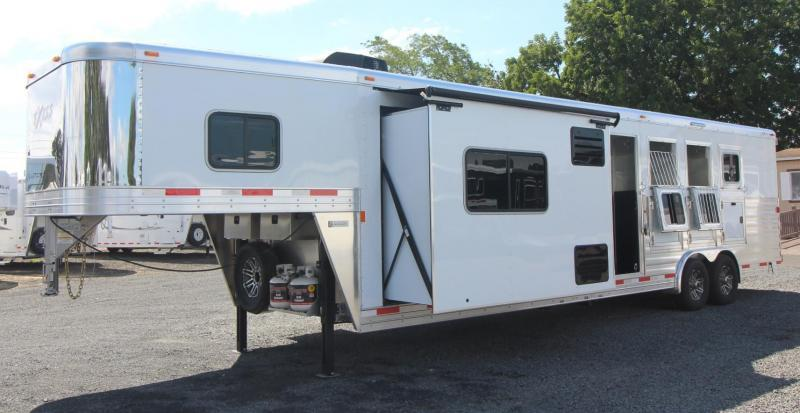 2019 Exiss Endeavor 8412 w/ Slide 4 Horse Living Quarters Trailer PRICE REDUCED