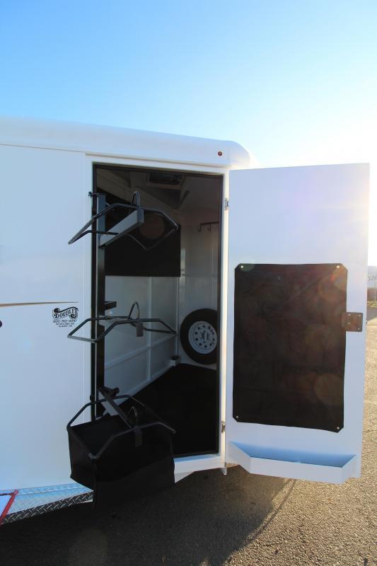 2019 Trails West Adventure MX 3 Horse Trailer - Drop Down Windows - Windows in Rear Doors - NEW Larger Stalls