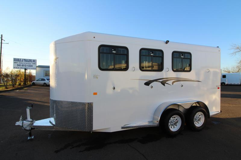 2019 Trails West Adventure MX 3 Horse Trailer - Drop Down Windows - Windows in Rear Doors - NEW Larger Stalls