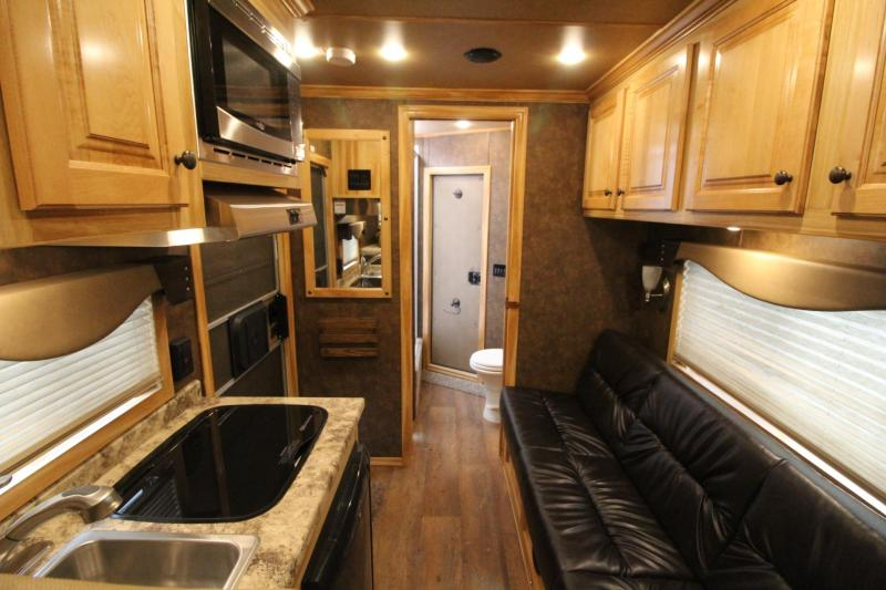 "2019 Exiss Escape 7308 Living Quarters 8' 6"" SW - Aluminum 3 Horse Trailer"