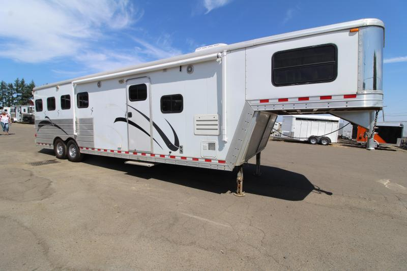 2006 Keifer Built X-E 104 Living Quarters 4 Horse Trailer 10' SW LQ - Easy Care Flooring - New Awning - 4 New Tires - Mangers - Swing Out Saddle Rack