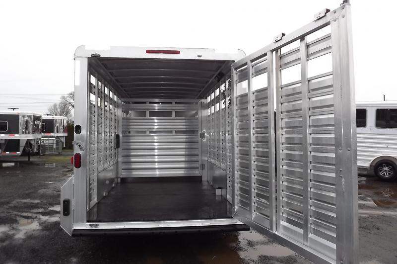 """2017 Exiss STC 7024 24' Stock Combo Trailer - Fully Enclosed Tack Room - Sheet Black -  7'2"""" Tall - Extruded Aluminum"""