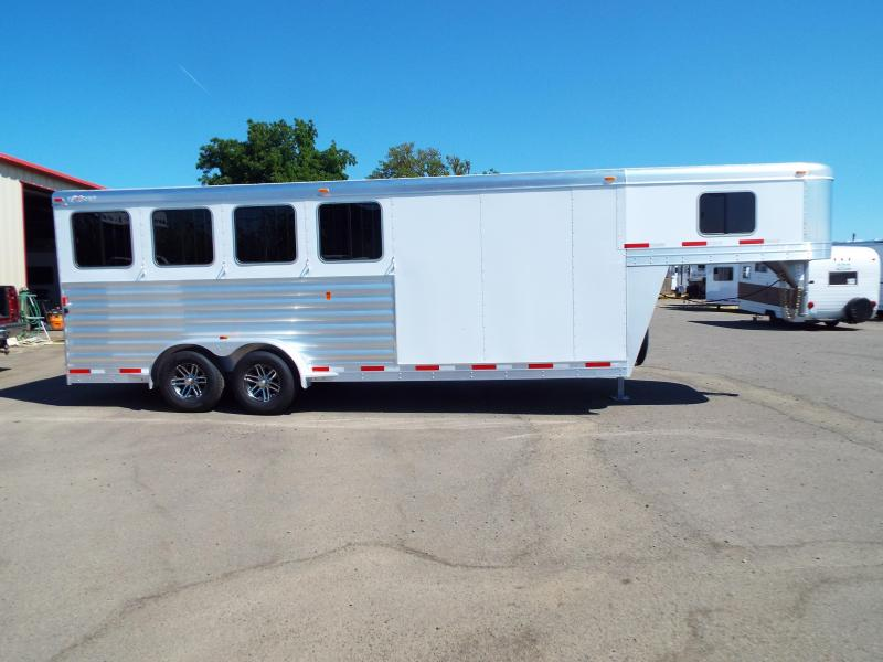 2017 Exiss 7400  - 4 Horse Trailer - All Aluminum - Stud Wall - UPGRADED Easy Care Flooring