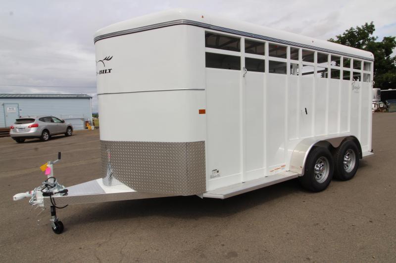 2020 Thuro-Bilt Wrangler 17 ft Steel Livestock Trailer - Upgraded Rear Combo Slider Gate - LED Load Light