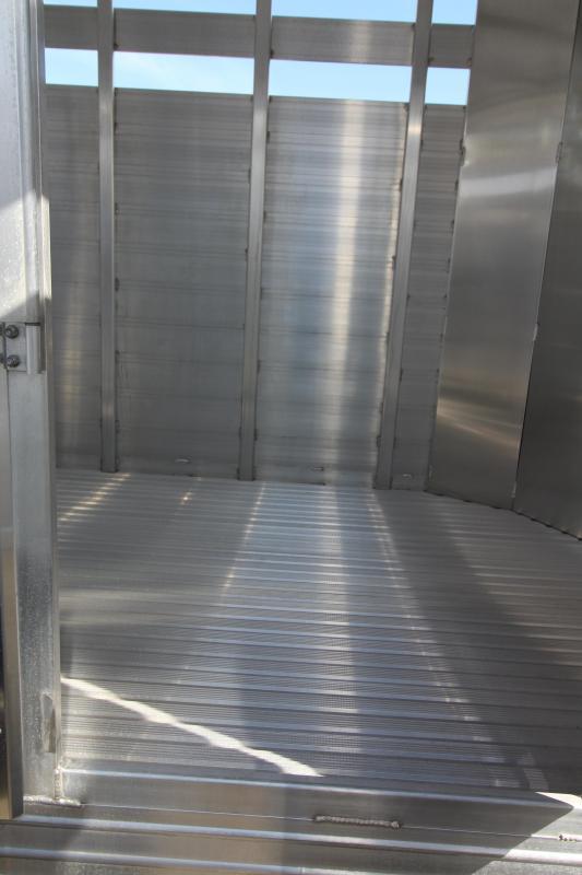 2019 Featherlite 8107 16 Bumper Pull Stock Trailer - Slider in Rear Gate - Solid Center Gate - 7' Tall