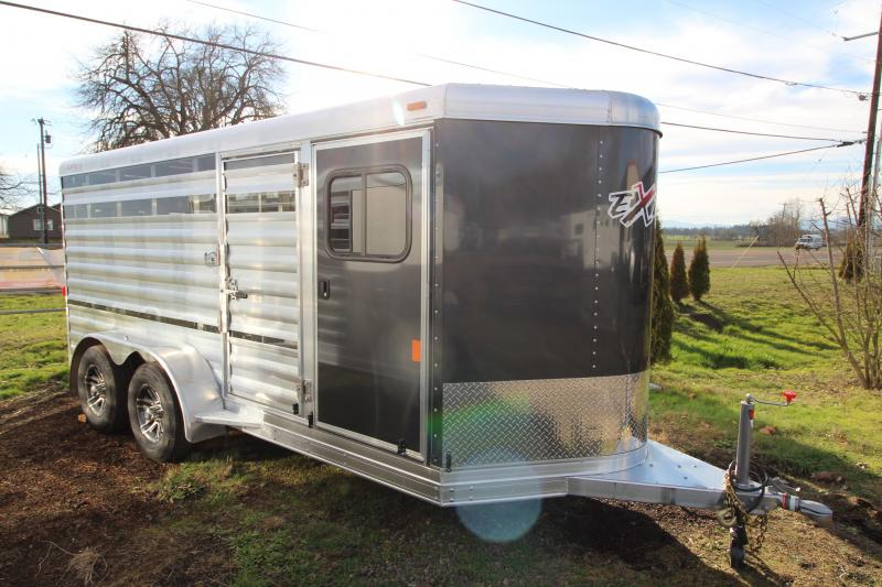 2019 Exiss 615 Exhibitor Mini Stock Combo - Fully Removable Pen System - Tack Room - Rear Ramp