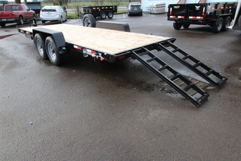 2019 Eagle Trailer 7x20 Flatbed Trailer w/ Stabilizer Jacks