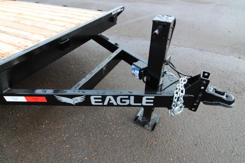 2019 Eagle Trailer 7x20 Flatbed Trailer w/ Stabilizer Jacks