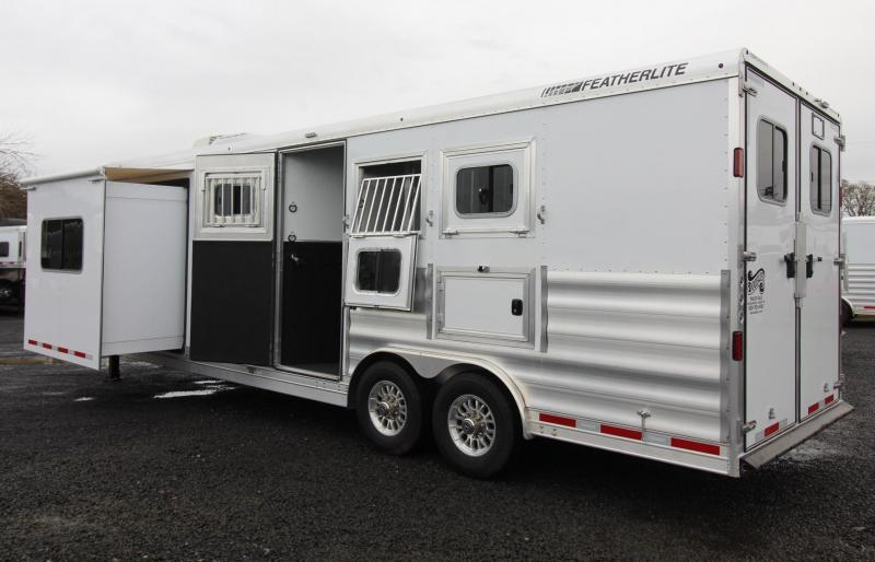 2019 Featherlite 9821 Liberty 11ft SW living quarters w/ slide 3 Horse Trailer