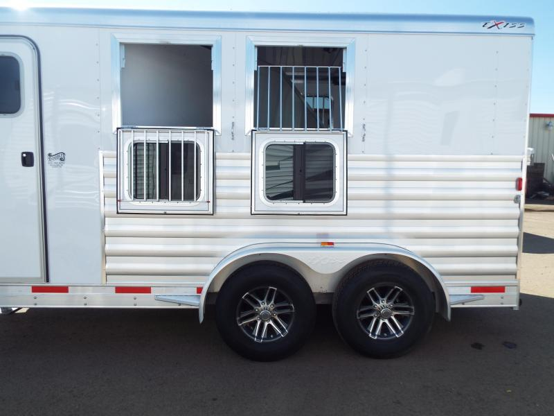 """2017 Exiss Trailers 7200 - 2 Horse Trailer 7'2"""" Tall - All Aluminum"""