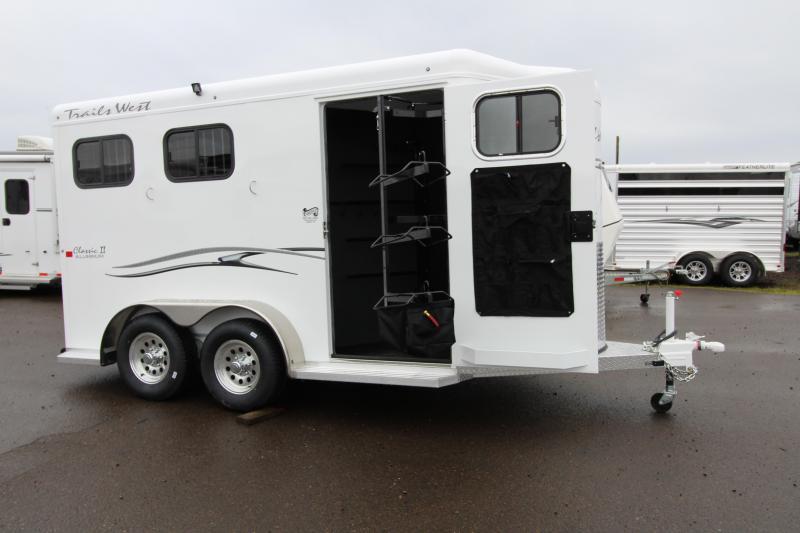 2018 Trails West Classic - Aluminum skin steel frame - Aluminum Wheels - 2 Horse Trailer - PRICE REDUCED