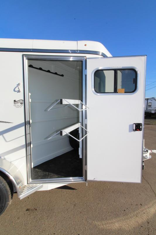 2019 Thuro-Bilt Shilo 2 Horse Trailer - Drop Down Head Side Windows - Tail Side Air Gap - Fully Enclosed Tack Room with Swing Out Saddle Rack