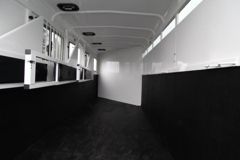 "2019 Thuro-Bilt Shilo 7'6"" Tall 4 Horse Trailer - Drop down windows head side - Sealed tack room"