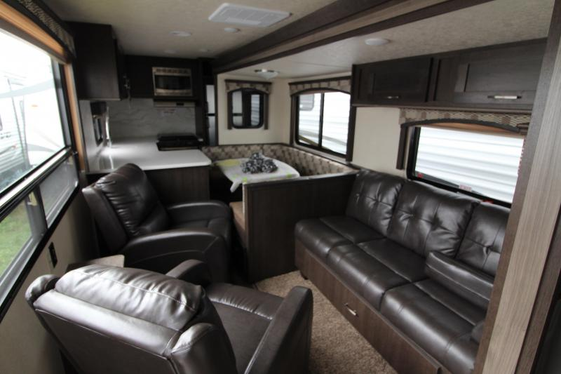 2018 Forest River Evo 2790 Travel Trailer - Rear Kitchen -  NEW Floor Plan - Loaded Options! Arctic Package - Solar Panel Package! Silver Birch Interior Decor - PRELIMINARY PHOTOS