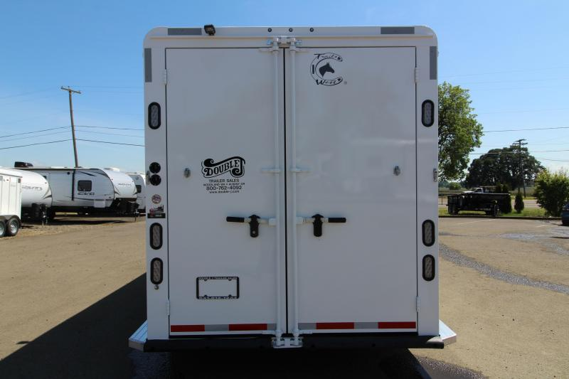 """2020 Trails West Classic 3 Horse - Steel Frame Aluminum Skin w/ 5x5 Comfort Package - Side Tack - 7'6"""" Tall with Escape Door - Pre Wired for AC"""