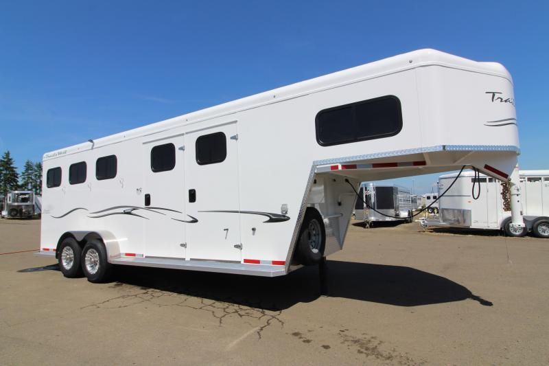 "2020 Trails West Classic 3 Horse - Steel Frame Aluminum Skin w/ 5x5 Comfort Package - Side Tack - 7'6"" Tall with Escape Door"