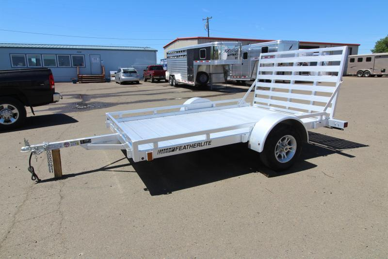 2019 Featherlite 1693 Flatbed Utility 10ft Trailer w/ Ramp - All aluminum
