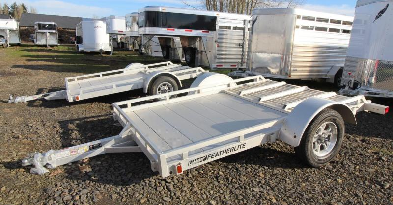 2019 Featherlite 1693 Flatbed Utility 10ft Trailer w/ Ramp