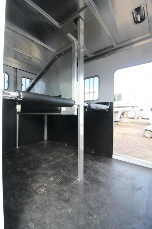 2018 Exiss 7200 ST 2 Horse Straight Load Aluminum Warmblood Trailer